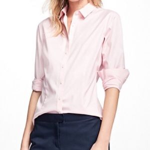 Brooks Brothers Button Down Stretch Pink Shirt 10